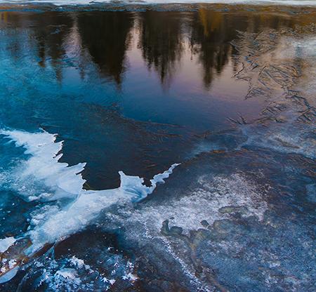 Winter Ice Growing