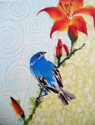 Bluebird and Daylilyweb